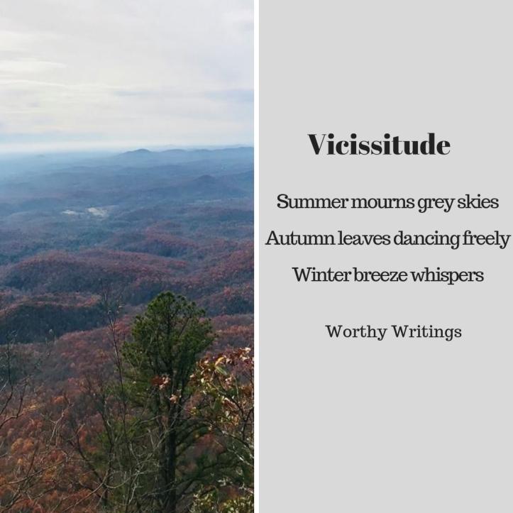 Summer mourns grey skiesAutumn leaves dancing freelyWinter breeze whispers
